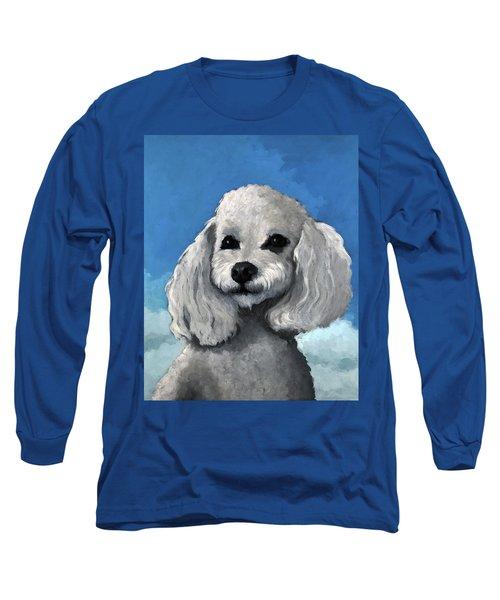 Sherman - Poodle Pet Portrait Long Sleeve T-Shirt