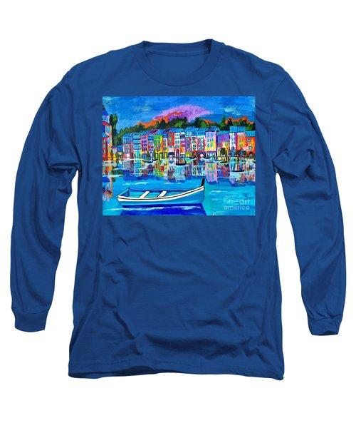 Shores Of Italy Long Sleeve T-Shirt by Scott D Van Osdol