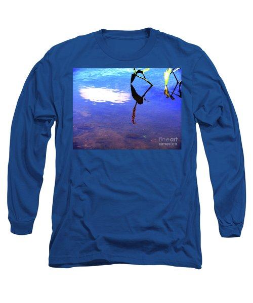 Silhouette Aquatic Fish Long Sleeve T-Shirt