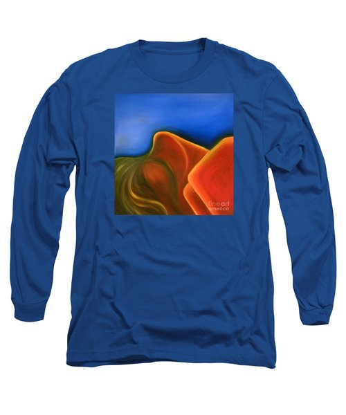 Long Sleeve T-Shirt featuring the painting Sinuous Curves Iv by Fanny Diaz