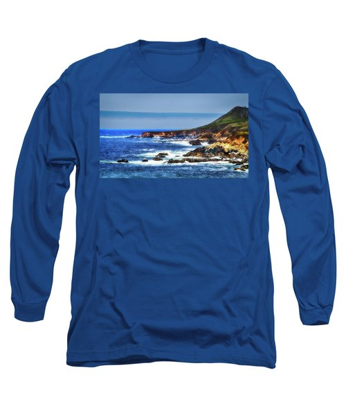 Sit And Stare Beach Long Sleeve T-Shirt by Joseph Hollingsworth