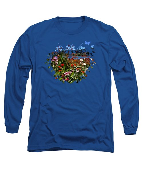 Siuslaw River Floral Long Sleeve T-Shirt by Thom Zehrfeld