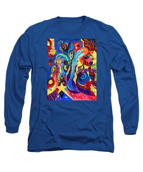 Long Sleeve T-Shirt featuring the painting Guardian Angel by Marina Petro