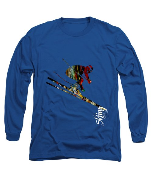 Skiing Collection Long Sleeve T-Shirt by Marvin Blaine