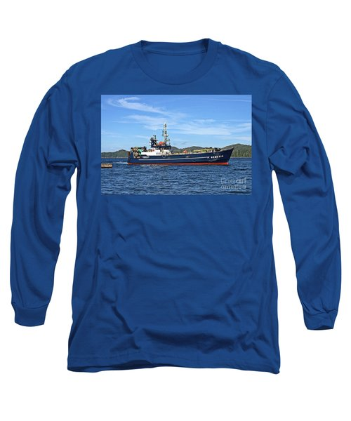 Skipper Kris At The Wheel Long Sleeve T-Shirt