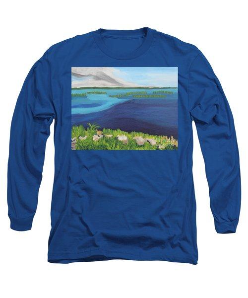 Serene Blue Lake Long Sleeve T-Shirt