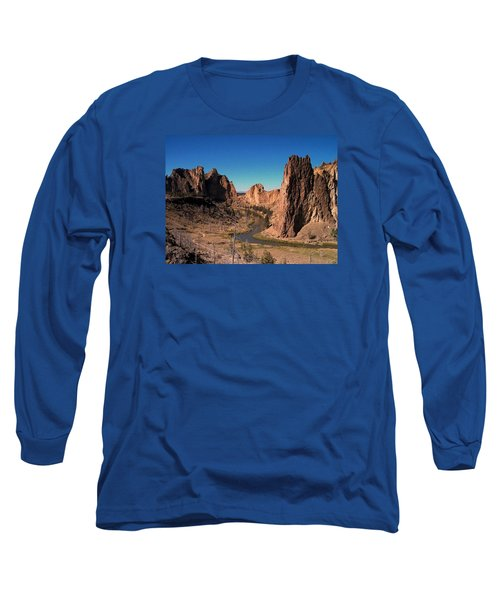 Smith Rock Long Sleeve T-Shirt by Lori Seaman