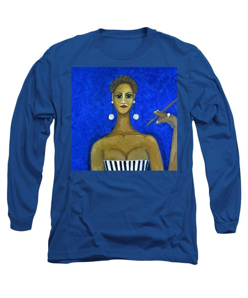 Smoking Woman 2 Long Sleeve T-Shirt