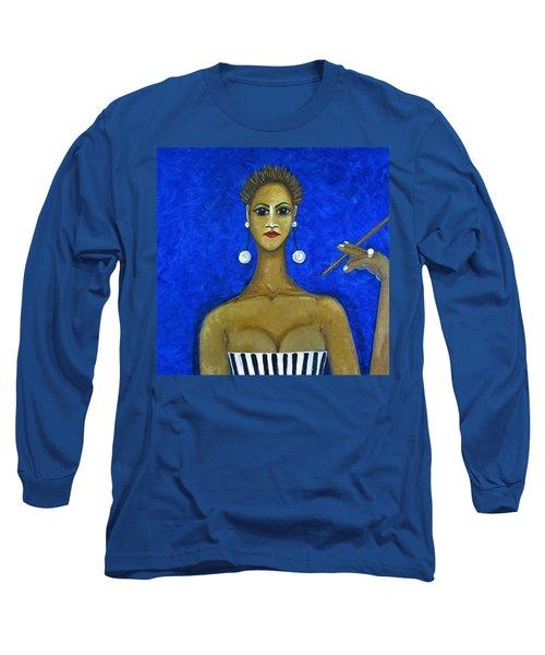 Smoking Woman 2 Long Sleeve T-Shirt