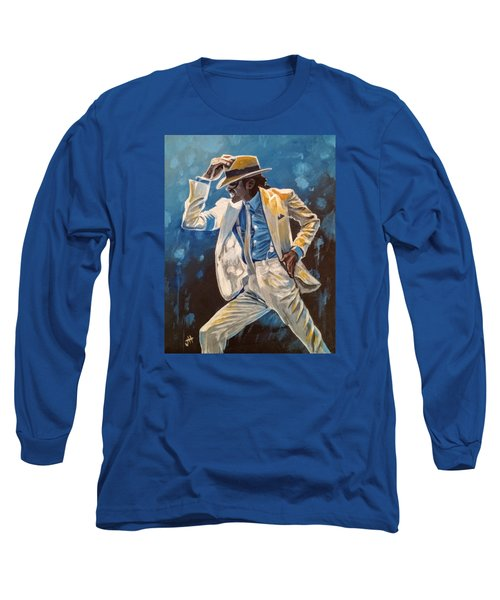 Long Sleeve T-Shirt featuring the painting Smooth Criminal by Jennifer Hotai