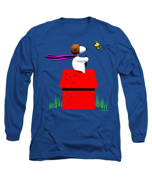 Snoopy Evades The Red Baron Long Sleeve T-Shirt