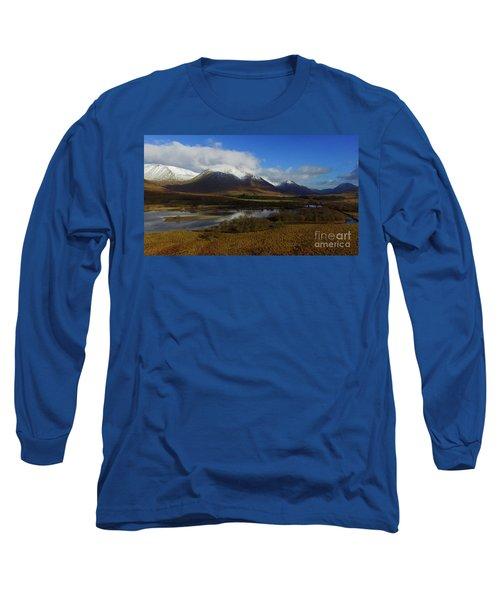 Snow Cap Mountains Long Sleeve T-Shirt