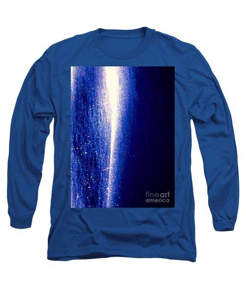 Snow Lightning Long Sleeve T-Shirt by Jennifer Lake