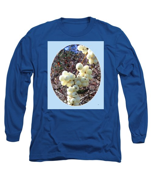 Long Sleeve T-Shirt featuring the photograph Snowberry Cluster by Will Borden