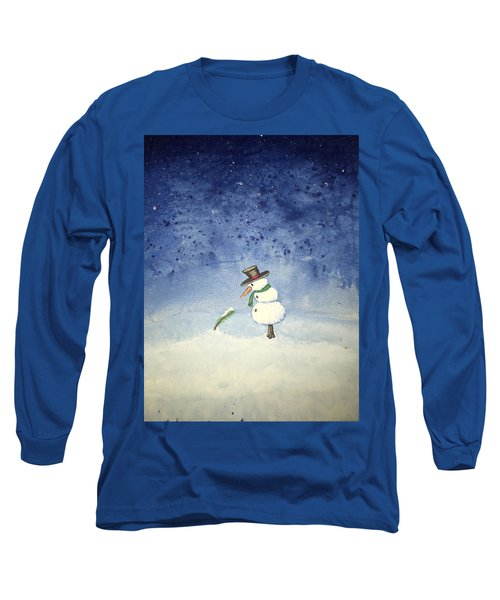 Long Sleeve T-Shirt featuring the painting Snowfall by Antonio Romero