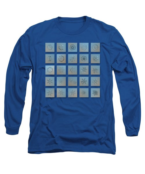 Snowflake Collage - Season 2013 Bright Crystals Long Sleeve T-Shirt by Alexey Kljatov