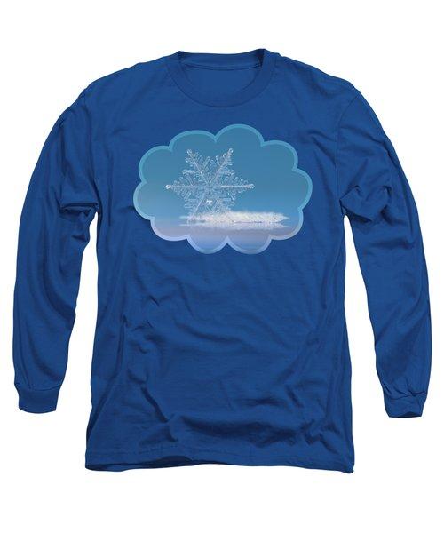 Snowflake Photo - Cloud Number Nine Long Sleeve T-Shirt by Alexey Kljatov