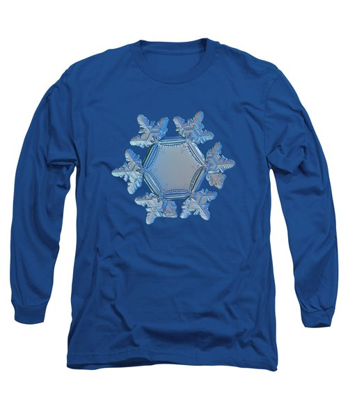 Long Sleeve T-Shirt featuring the photograph Snowflake Photo - Sunflower by Alexey Kljatov