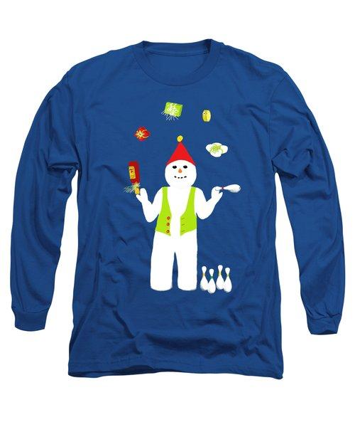 Snowman Juggler Long Sleeve T-Shirt
