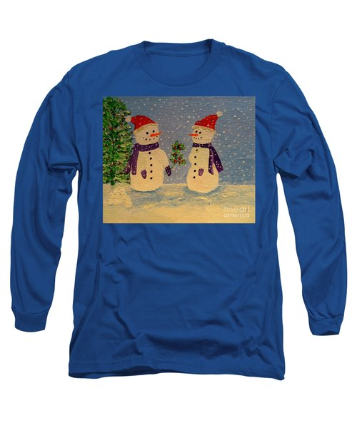 Snow-people At Christmas Long Sleeve T-Shirt