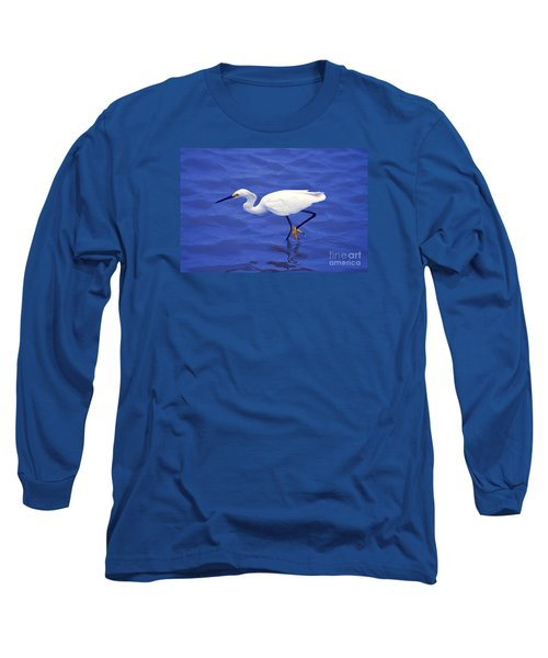 Long Sleeve T-Shirt featuring the photograph Snowy Egret 1 by Bill Holkham