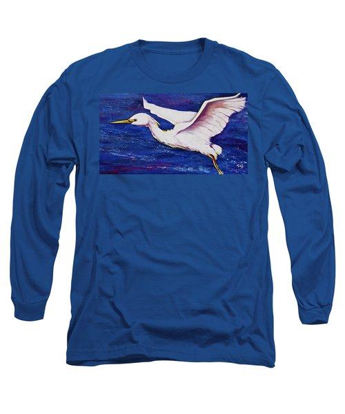 Soaring Over Egret Bay Long Sleeve T-Shirt