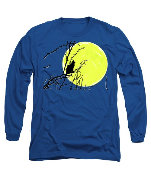 Solitary With Golden Moon Long Sleeve T-Shirt