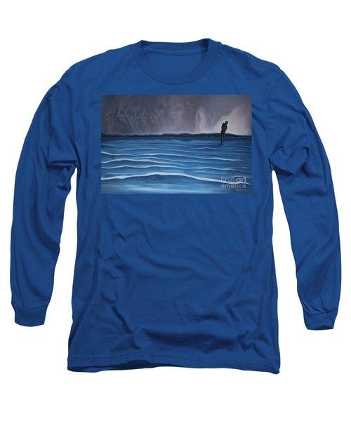 Long Sleeve T-Shirt featuring the painting Solitude by Michael  TMAD Finney