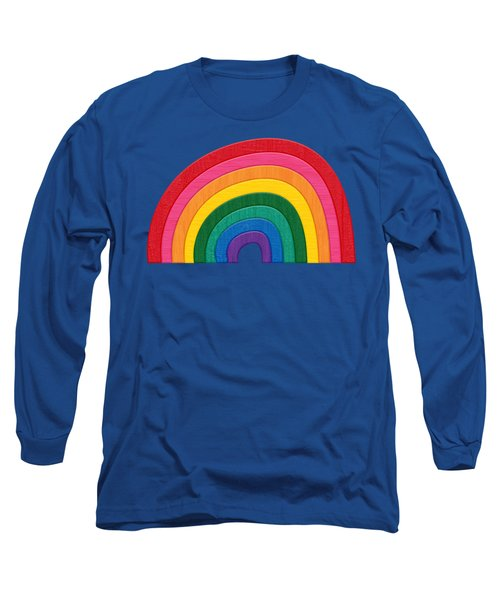 Somewhere Over The Rainbow Long Sleeve T-Shirt by Pristine Cartera Turkus