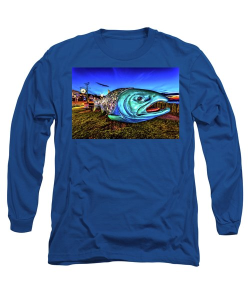 Soul Salmon During Blue Hour Long Sleeve T-Shirt by Rob Green