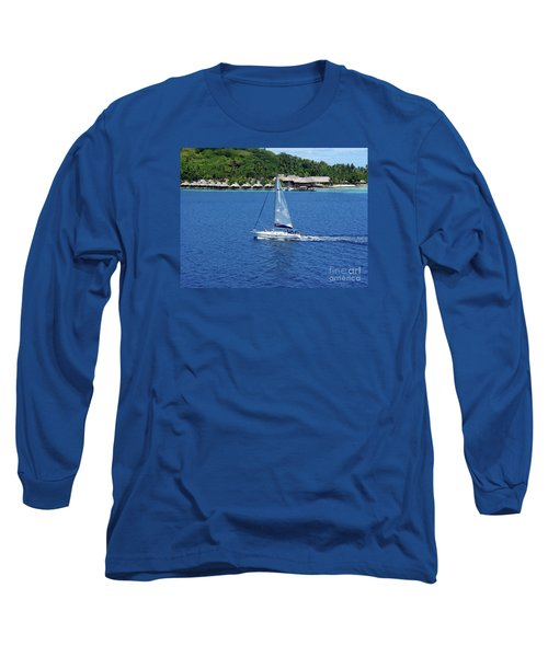 Long Sleeve T-Shirt featuring the photograph South Sea Sail by Phyllis Kaltenbach