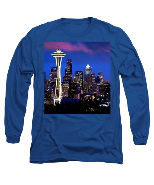 Space Needle At Night  Long Sleeve T-Shirt
