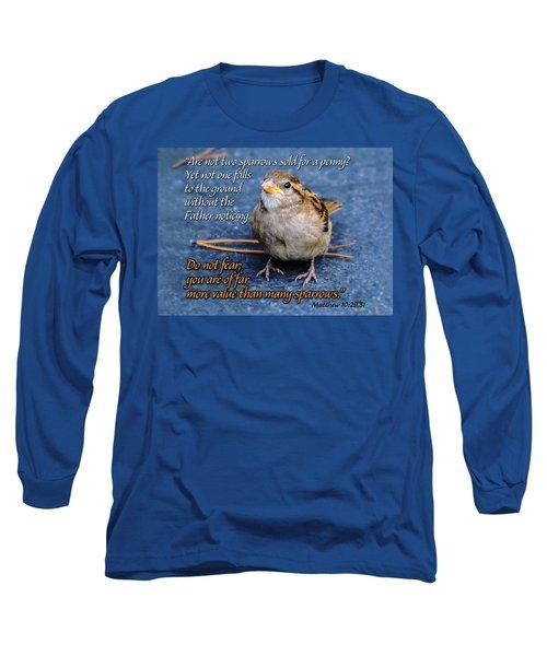 Sparrow Scripture Matthew 10 Long Sleeve T-Shirt