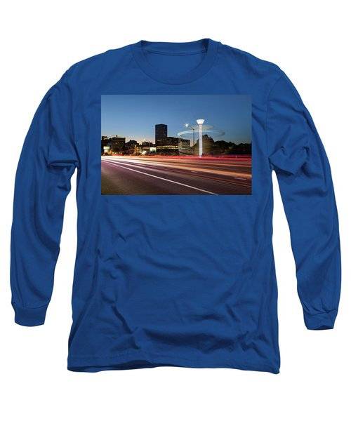 Spinning Swing Chair Carnival Rides Long Exposure Long Sleeve T-Shirt