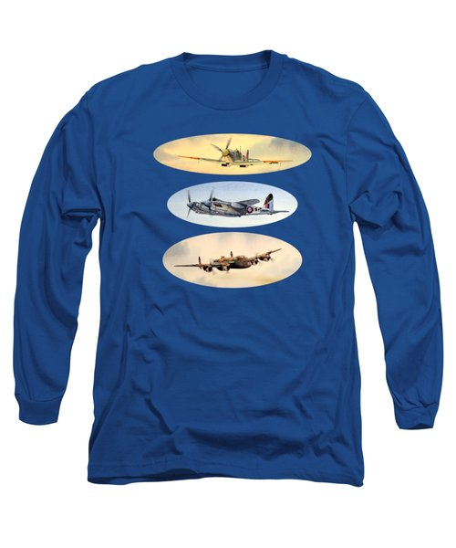 Spitfire Mosquito Lancaster Collage Long Sleeve T-Shirt