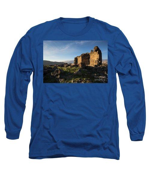 Splendid Ruins Of St. Grigor Church In Karashamb, Armenia Long Sleeve T-Shirt by Gurgen Bakhshetsyan
