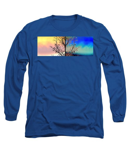 Long Sleeve T-Shirt featuring the digital art Splendid Spring Fusion by Will Borden