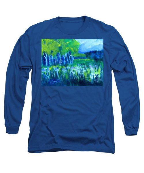 Long Sleeve T-Shirt featuring the painting Spring Coming by Betty Pieper