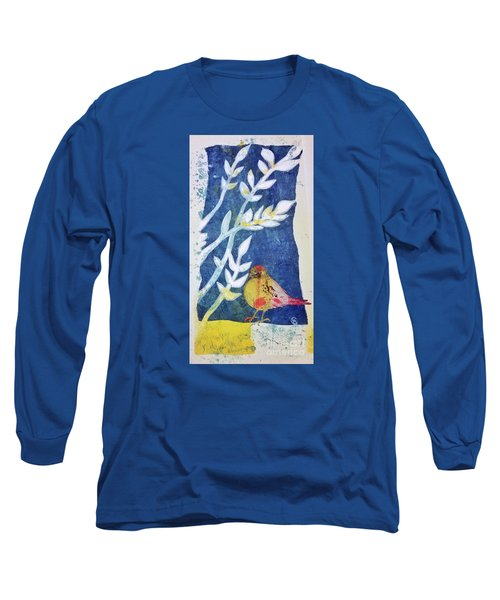 Long Sleeve T-Shirt featuring the mixed media Spring Has Sprung by Cynthia Lagoudakis