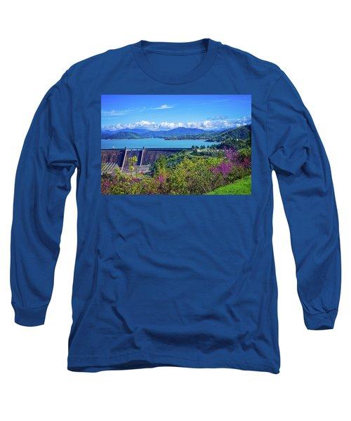 Springtime At Shasta Lake Dam Long Sleeve T-Shirt