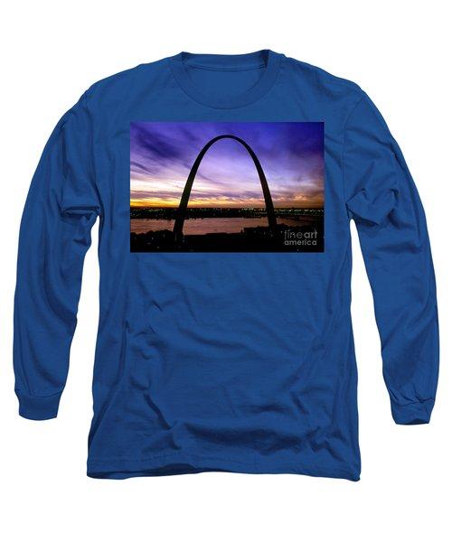 St. Louis, Missouri Long Sleeve T-Shirt by Wernher Krutein