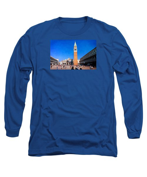 Long Sleeve T-Shirt featuring the photograph St Mark's Square by Anne Kotan