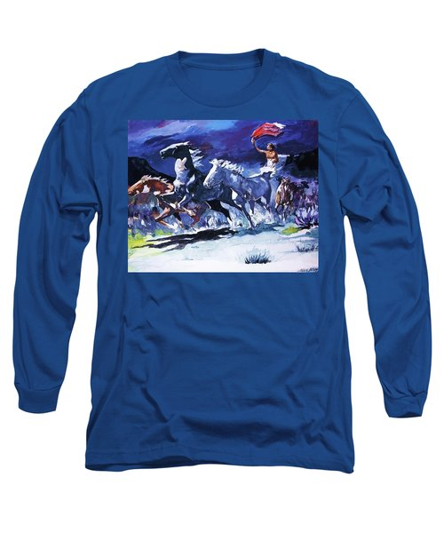 Stampede By Moonlight Long Sleeve T-Shirt