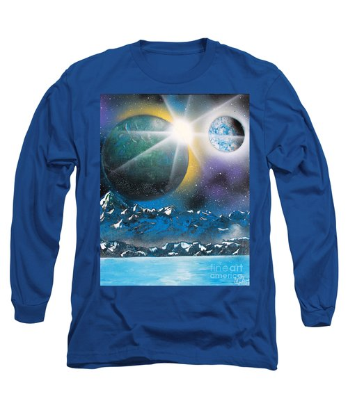 Long Sleeve T-Shirt featuring the painting Star Burst by Greg Moores