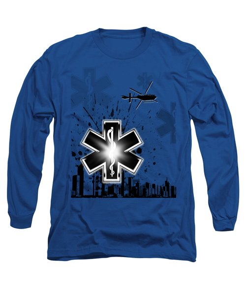 Star Of Life Graphic Long Sleeve T-Shirt by Melissa Smith