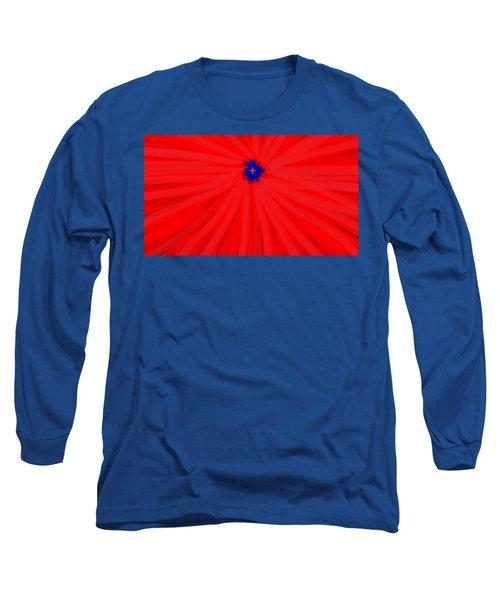 Starburst 2' By Sumi E Master Linda Velasquez Long Sleeve T-Shirt by Linda Velasquez
