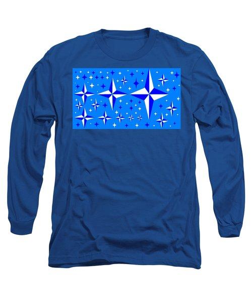 Starlight 9 Long Sleeve T-Shirt by Linda Velasquez