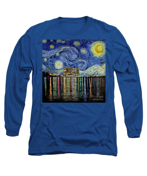 Starry Night In Destin Long Sleeve T-Shirt by Walt Foegelle
