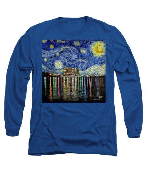 Starry Night In Destin Long Sleeve T-Shirt