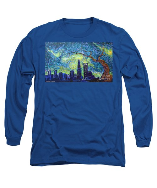 Starry Night Over The Queen City Long Sleeve T-Shirt